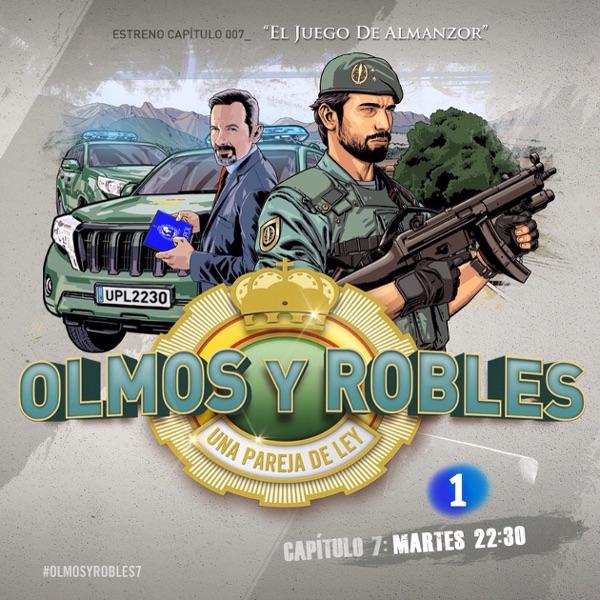 """Cartel promocional de la popular serie TV """"Olmos y Robles"""" con Luis Miguel Seguí"""
